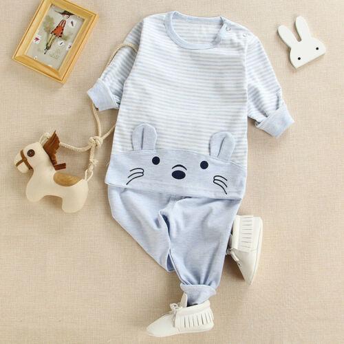 Kids Boys Girls Toddler Baby Pajamas Set Sleepwear Nightwear Clothes Outfits US
