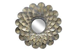 Espejo-de-pared-de-metal-039-Florescencia-039-Hecha-a-mano-80x80x8cm