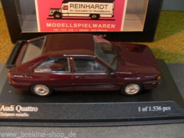 1 43 Minichamps Audi Quattro 1981 tizianrotmetallic