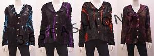 PLUS-SIZE-GOTHIC-HIPPIE-BOHO-TIE-DYE-STRIPED-VELVET-COLLARED-JACKET-18-20-22