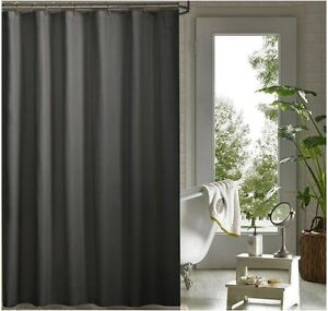 Image Is Loading Charcoal Grey Shower Curtain 1 8 X 2m