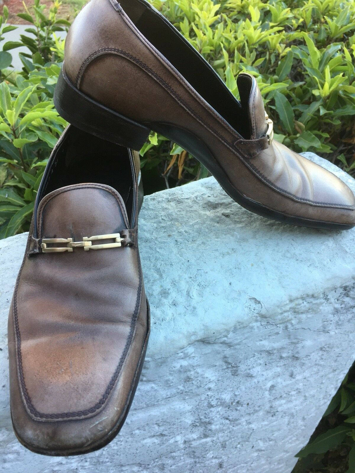 Ferragamo Brown Brown Ferragamo Buckle Loafers Size 9 c85d97