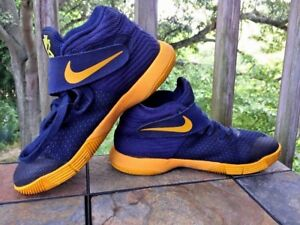 promo code 52f55 78b1b Details about NIKE Kyrie 2 Irving Cavs II Playoff NAVY GOLD Sneakers Boys  Girls Shoes Sz 5.5