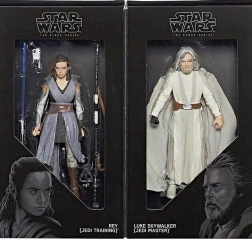"STAR Wars Black Series 6/"" Inch gli ultimi Jedi REY /& Luke Skywalker San Diego comic-con 2017"