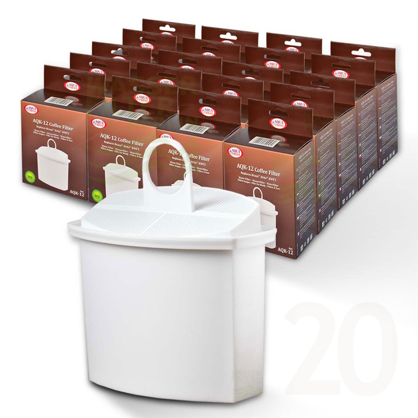 20x Filtre à Eau Compatible marron Aromaselect Pure Aqua Brita KWF2
