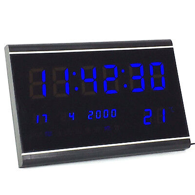 Multi Led Digital Display Wanduhr Mit Datumanzeige Alarm Gross Tischuhr 3020