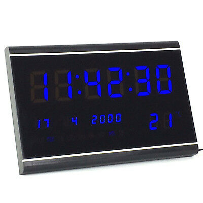 Multi Led Digital Display Wanduhr Mit Datumanzeige Alarm Gross Tischuhr 3020