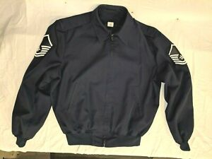 MENS-USAF-E-7-MASTER-MASTER-SERGEANT-BLUE-48-LONG-LIGHT-WEIGHT-JACKET-W-O-LINER