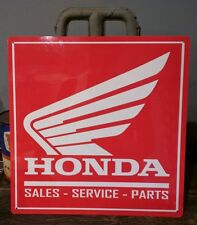 Honda Sales parts service 12 X 12 sign motorcycle vintage advertising 50001