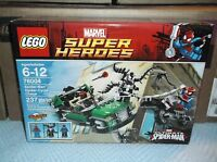 Sealed Lego Marvel Super Heroes 76004 Spider-Cycle Chase!! Rare & Retired!