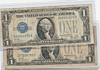 """Old US Paper Currency! 1928B $1 Blue /""""FUNNY BACK/"""" SILVER Certificate VG"""