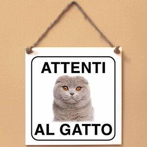 Scottish-Fold-5-Attenti-al-gatto-Targa-gatto-cartello-ceramic-tiles