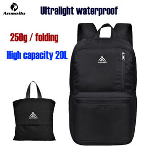 ddb6ecd8ef0e Details about Anmeilu 20L Ultralight Foldable Nylon Backpack Outdoor Sport  Waterproof Bags