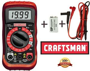 New-CRAFTSMAN-Digital-Multimeter-Volt-AC-DC-Tester-Meter-Voltmeter-Ohmmeter