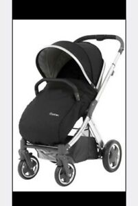 BabyStyle-Oyster-2-Mirror-Pushchair-Tan-Handle-Tungsten-Grey