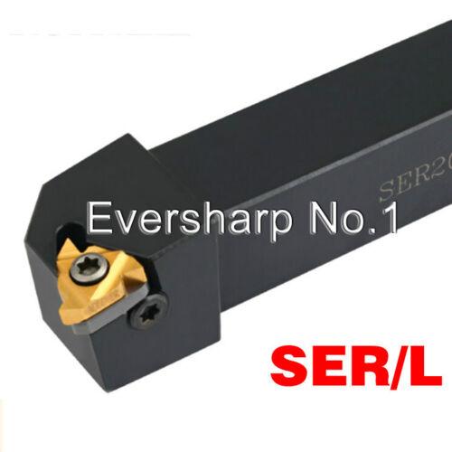 SER2525M16 25×150mm ER16 Inserts External  Threading Turning Tool Holders 1Pcs