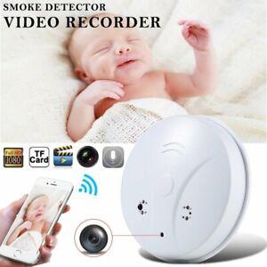 Mini-Wireless-Wifi-HD-1080P-Hidden-Spy-Camera-Smoke-Detector-Cam-Security-Camera
