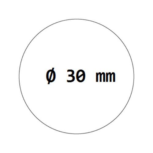besonders stark haftend 1000 Verschlussetiketten transparent auf Rolle 30 mm