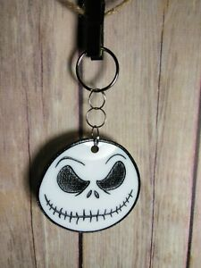 3D The Nightmare Before Christmas Jack Skellington Keychain noctilucent Key Ring
