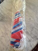 Large Red White And Blue Striped Pennant Banner