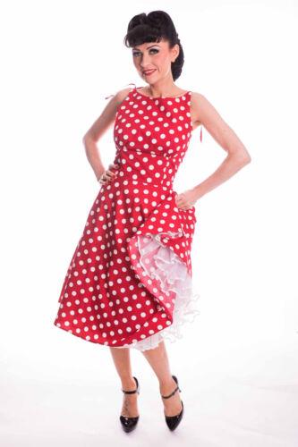 Retro sottoveste abito Pin Up Polka Dots estate Swing Vestito Abito Spalline
