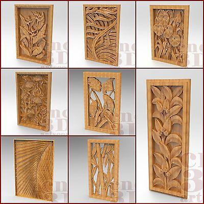 8 pcs 3D STL Models for CNC Router Engraver Carving Machine Relief Artcam aspire