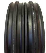 Two Deestone 400x12 400-12 4 00-12 Front 3 Rib Tractor Tires With Tubes
