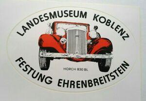 Fan-Aufkleber Horch 830 Bl Koblenz Landesmuseum Fortress Ehrenbreitstein 90er