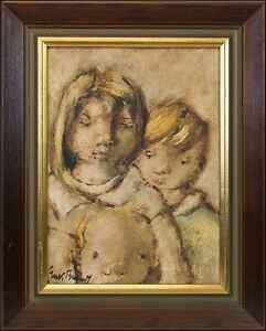 Erik-Brandt-1901-Brothers-and-Sisters-Boy-Girl-Portrait-Modern-Oil-Painting