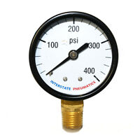 Pressure Gauge 400 Psi 2 Diameter 1/4 Npt Bottom Mount G2012-400