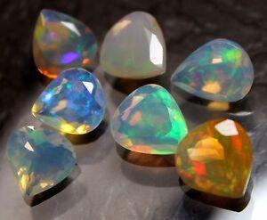 11-8-Ct-Natural-Loose-Gemstone-Ethiopian-Opal-Heart-Shape-Cut-Stone-7-Pecs-Lot