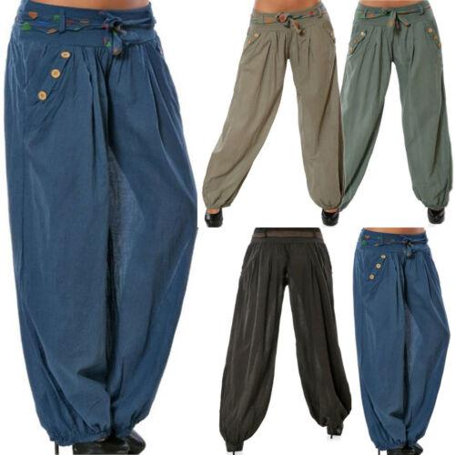 Womens Baggy Harem Hippie Pants Sweatpants Jogger Dance Sports Slacks Trousers