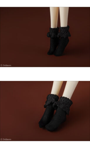 """PGS Ankle Socks Dollmore 12/"""" Fashion Doll Size 12inch Size Black"""