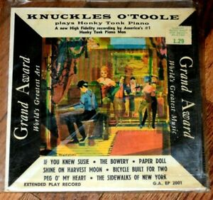 KNUCKLES-O-039-TOOLE-plays-Honky-Tonk-Piano-45rpm