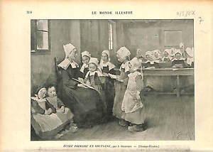 ECOLE-PRIMAIRE-BRETAGNE-Breizh-ECOLIER-COSTUME-GRAVURE-1896
