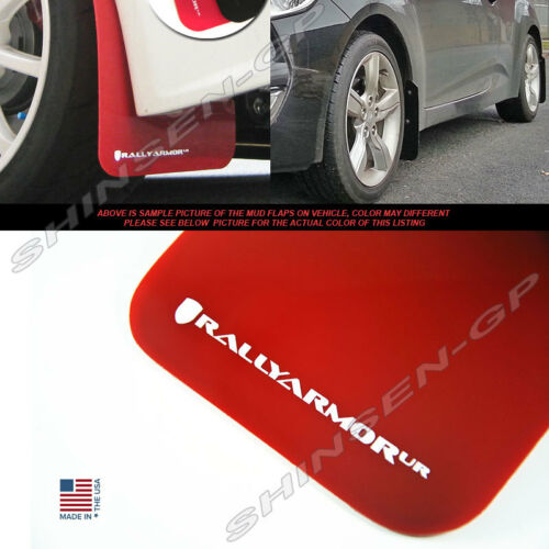 RALLY ARMOR UR MUD FLAPS FOR 2012-2017 VELOSTER TURBO /& NON-TURBO RED WHITE