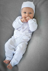 Baby Boy Outfit Christening Tuxedo Romper 3 piece Baptism Handmade ... 8d159996865