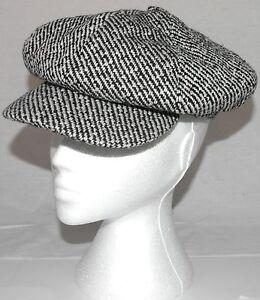 Mujer-Boina-8-Paneles-Boton-Gorro-Estilo-Gatsby-talla-unica-a003-45-blanco-y