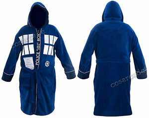 Doctor-Dr-Who-Tardis-Adult-Unisex-Dressing-gown-bathrobe-robe-Mens-fleece