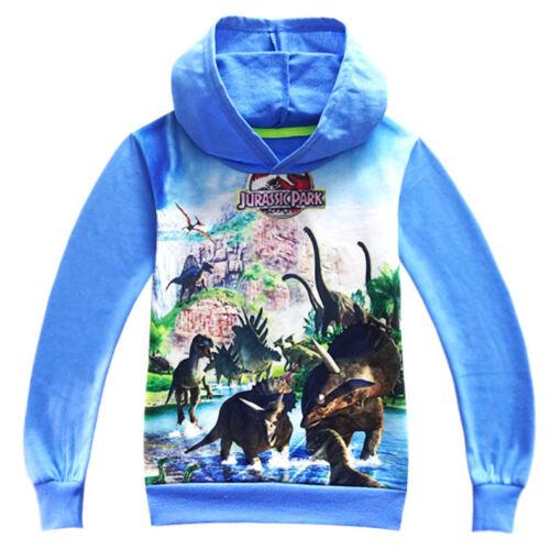 Boys Dinosaur tshirt Hoodie Jurassic park dinosaur Tee Tops Hoody Clothes Lot
