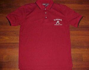 Alabama-Crimson-Tide-Football-Team-Logo-NCAA-SEC-Active-Men-039-s-Polo-Golf-Shirt-M