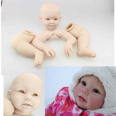 Reborn Baby Doll Kits Full Solid Silicone Vinyle Soft DIY Set Lifelike Handmade
