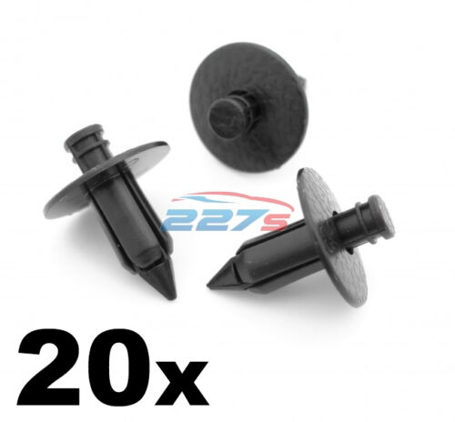 20x 7mm Push Fit Plastic Trim Panel Clips Same as Nissan 80999-05N07