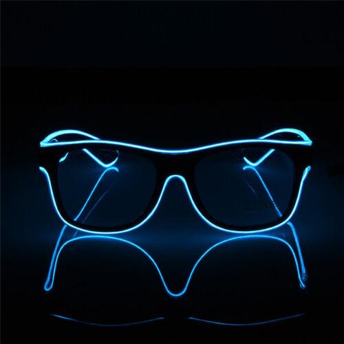 LED Flashing Light Up Glasses Glow Sunglasses Blinking Rave Party Disco