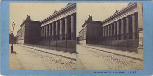 Bordeaux Palais Da Justice Francia Foto Stereo Vintage Albumina Ca 1870