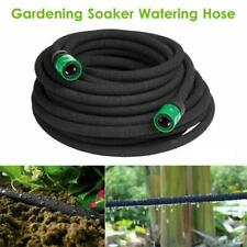 15M Soaker Hose Pipe Garden Outdoor Plants Gardening Leaky Drip Watering System