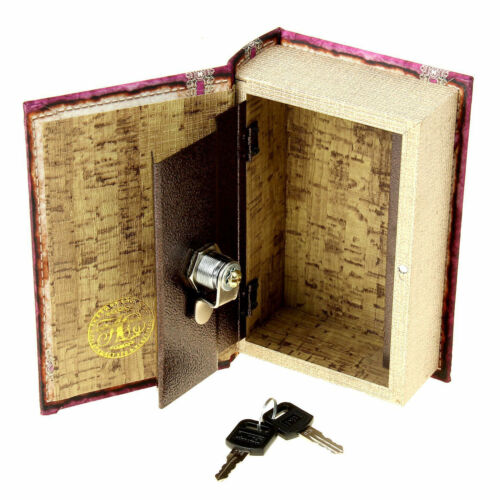 Book Lock Box Key Hidden Diversion Safe Stash Secret Security Girl Jewelry Money