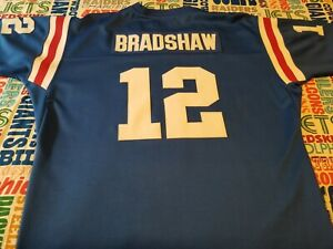 new concept a4ab1 5ff45 Details about Terry Bradshaw #12 NCAA 1966 -1969 Louisiana Tech Bulldogs  Throwbacks Jersey~2X