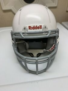Riddell-Youth-Victor-I-Football-Helmet-Small-Medium-White-w-Chinstrap-2019-Model