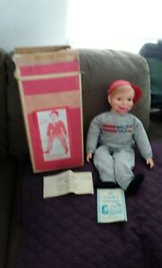 Vintage-Horsman-WILLIE-TALK-Ventriloquist-Doll-TOY-opens-mouth-no-close-1972box